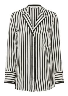 FRAME Striped Pajama Blouse