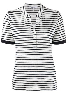FRAME striped polo top