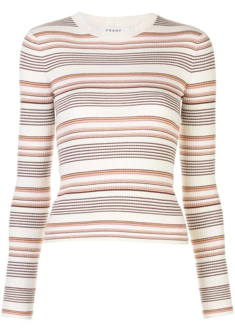FRAME striped ribbed pullover