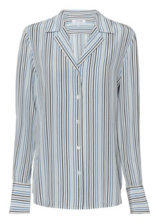 FRAME Striped Silk Shirt