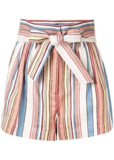 FRAME striped tie-waist shorts
