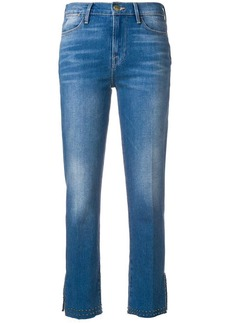 FRAME stud detail cropped jeans