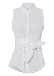 FRAME Tie Sleeveless Blouse