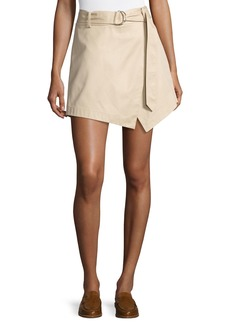 FRAME Trench High-Rise Cotton Skort