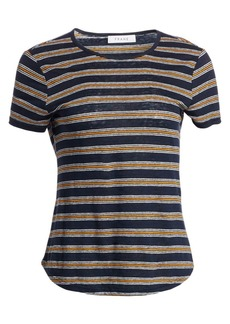 FRAME True Stripe Linen T-Shirt