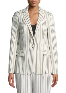 FRAME True Stripe One-Button Blazer