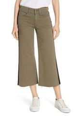FRAME Tuxedo Stripe Wide Leg Crop Jeans