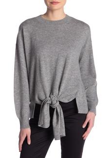 FRAME Twist Front Wool Blend Sweater