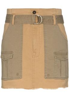 FRAME two-tone mini skirt