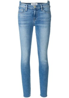 FRAME unfinished double waistband jeans