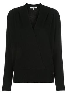 FRAME v-neck knitted draped jumper