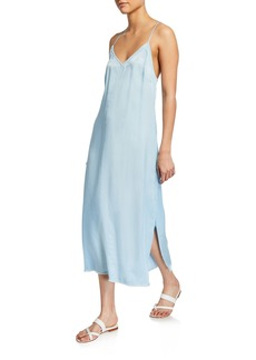 FRAME V-Neck Midi Slip Dress