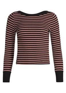 FRAME Variegated Stripe Long-Sleeve Tee