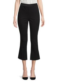 FRAME Variegated Velvet Flare Ankle Pants