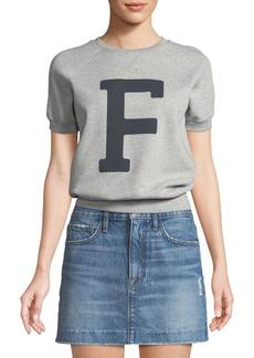 FRAME Varsity Graphic Short-Sleeve Sweatshirt