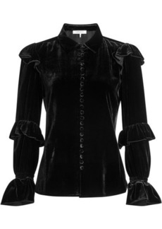 FRAME Velvet Blouse with Silk