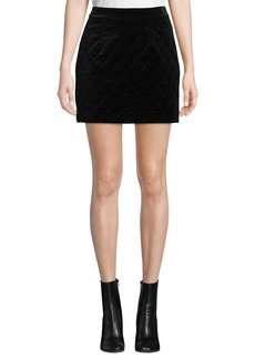 FRAME Velvet Quilted Mini Skirt