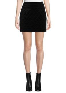 FRAME Velvet Quilted Mini Skirt