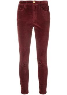 FRAME velvet slim trousers