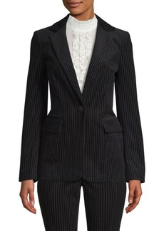 FRAME Velvet Striped Blazer