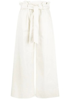 FRAME waist-tied cropped trousers
