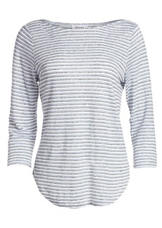 FRAME Weekender Striped Long-Sleeve Tee