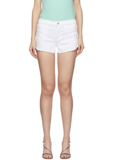 FRAME White Denim 'Le Cutoff' Tulip Hem Shorts