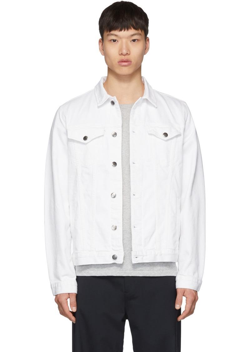 FRAME White Denim L'Homme Jacket