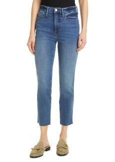 Women's Frame Le Sylvie Crop Straight Raw Edge Jeans