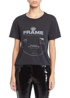FRAME Worn Out Crewneck Graphic Tee