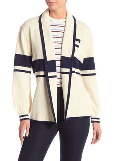 FRAME Wrap Tie Striped Sweater
