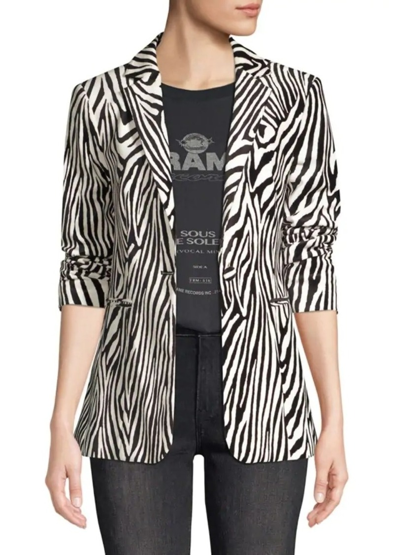 FRAME Zebra-Print Blazer