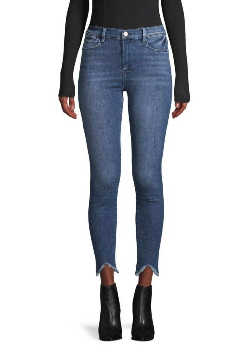 FRAME Zip-Fly Ankle Jeans