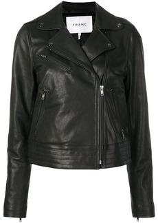 FRAME zipped leather jacket