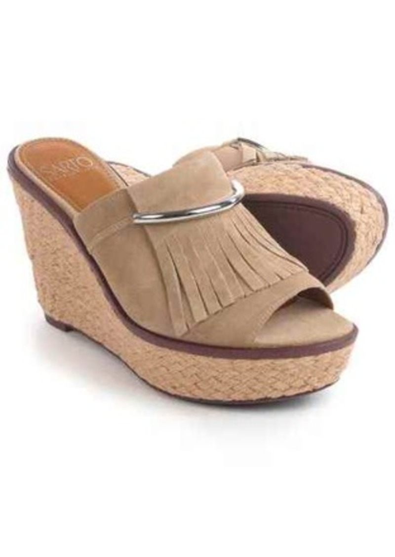 Franco Sarto Candace Sandals - Nubuck, Wedge Heel (For Women)