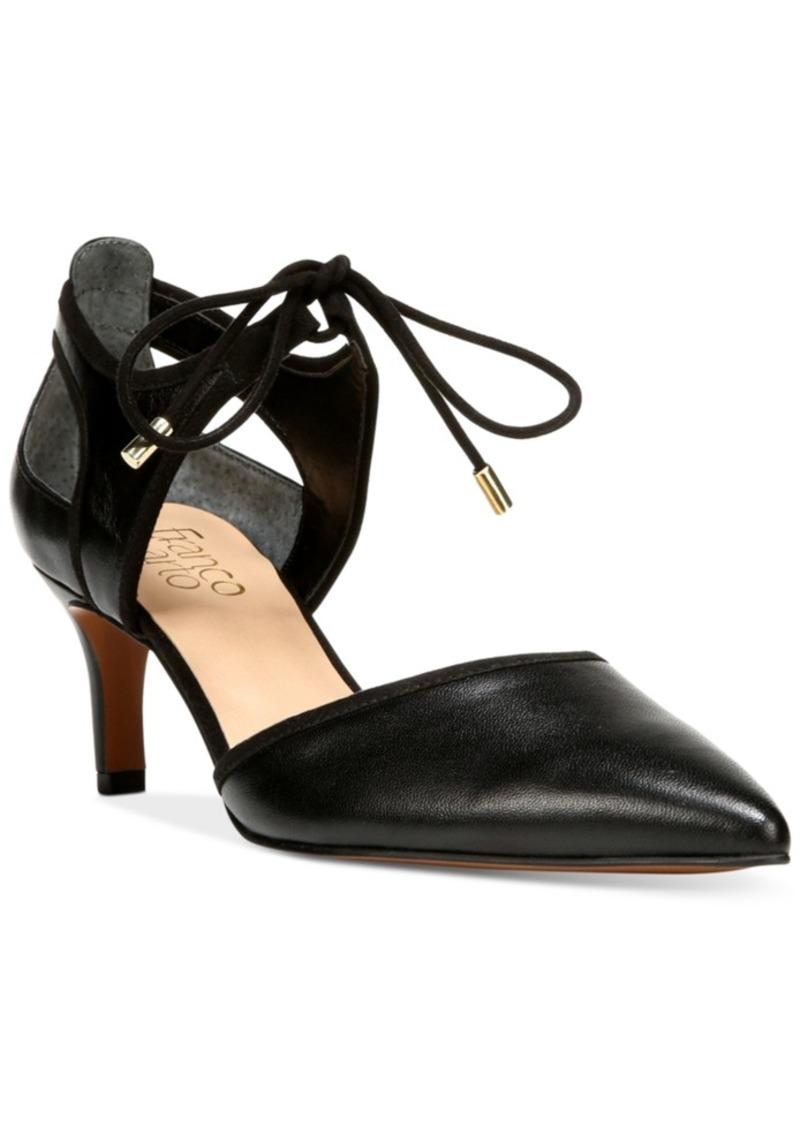Franco Sarto Darlis Ankle-Tie Pointed-Toe Pumps Women's Shoes Trnjkw5V6H