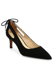 Franco Sarto Doe Point-Toe Suede Pumps