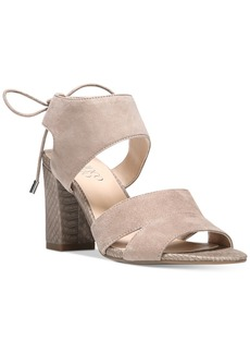 Franco Sarto Gem Lace-Up Block Heel Sandals Women's Shoes