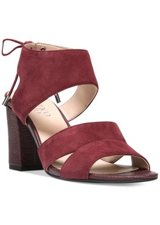 Franco Sarto Gem Lace-Up Block Heel Sandals Women's Shoes