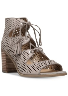 Franco Sarto Honolulu Block-Heel Lace-Up Sandals Women's Shoes
