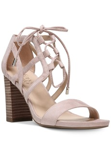 Franco Sarto Jewel Lace-Up Block-Heel Sandals Women's Shoes