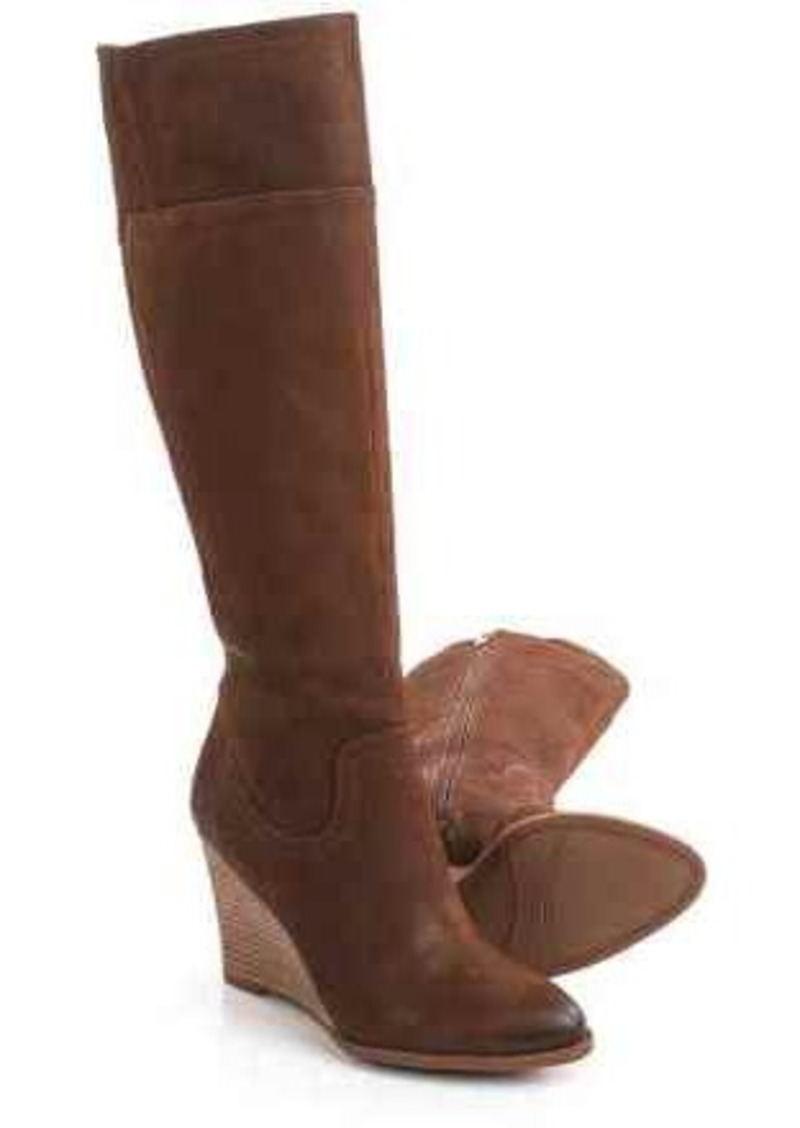 Franco Sarto Lara Tall Wedge Boots - Suede (For Women)