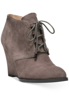Franco Sarto Lennon Lace-Up Wedge Ankle Booties Women's Shoes