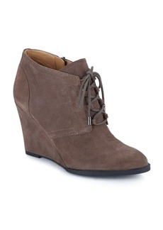 Franco Sarto Lennon Suede Wedge Booties