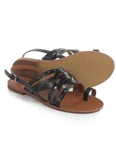 Franco Sarto Mack Crisscross Studded Sandals - Leather (For Women)