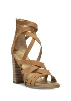 Franco Sarto Madrid Stacked Heel Leather Sandals