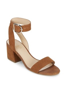 Franco Sarto Marcy Leather Ankle Strap Sandals