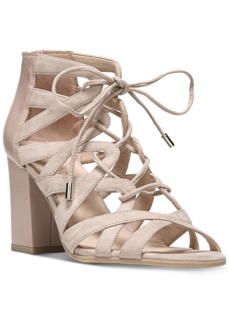 3bab473e483d Franco Sarto Franco Sarto Meena Block-Heel Lace-Up Sandals Women s ...