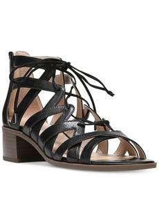 Franco Sarto Ocean Block-Heel Lace-Up Sandals Women's Shoes