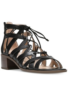 Franco Sarto Ocean Block-Heel Lace-Up Sandals Women's Shoes